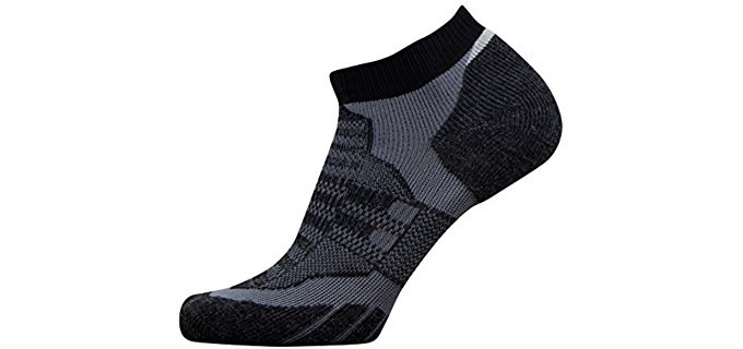 PureAthlete Unisex Secret Trail Socks - Hidden Trail Running Ankle Socks