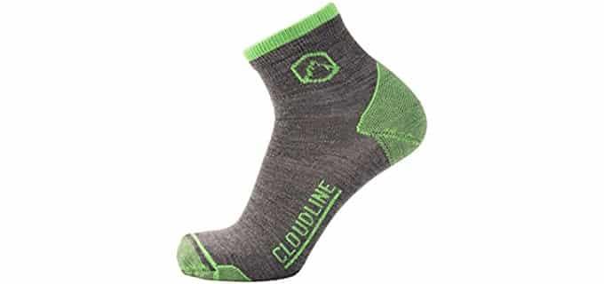 Cloudline Unisex Thin Merino Socks - Thin Merino Wool Running Socks
