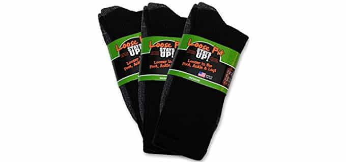 Loose Fit Stays Up Unisex Wide Boot Socks - Stretchy Boot Socks for Wider Calves
