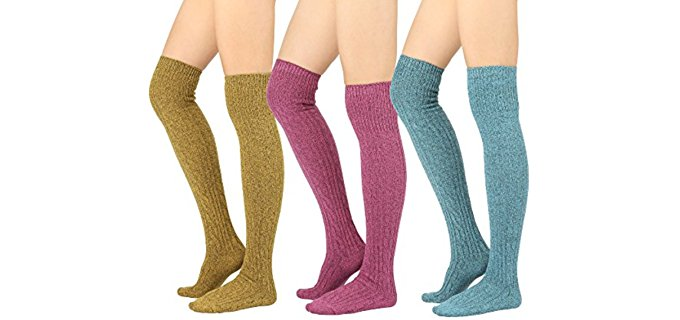 STYLEGAGA Women's Long Boot Socks - Knee High Socks for Boot Season