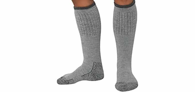 Pure Athlete Unisex Cold Weather Boot Socks - Thick Outdoor Wool Boot Socks