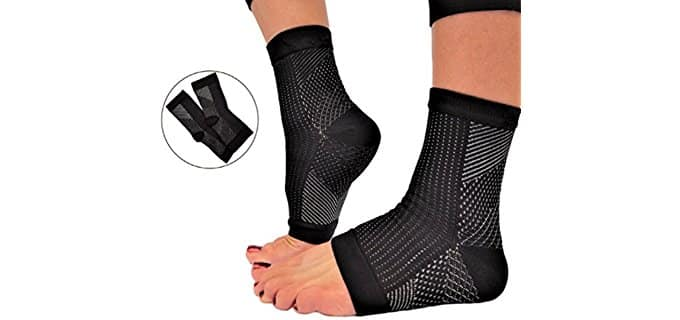 RiptGear Unisex Plantar Fascia Support Socks - Non-Restrictive Pressure Relief Compression Socks