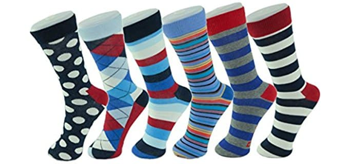 Alpine Swiss Men's Dress Socks - Balanced Cotton Dress Socks for Work