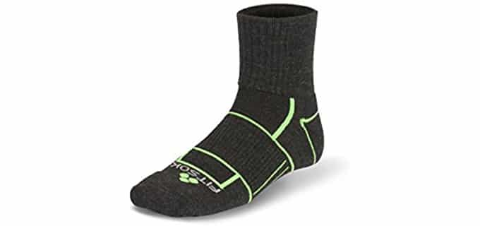 Fitsok Unisex Trail Cuff Socks - Winter Running Socks With Trail Cuff