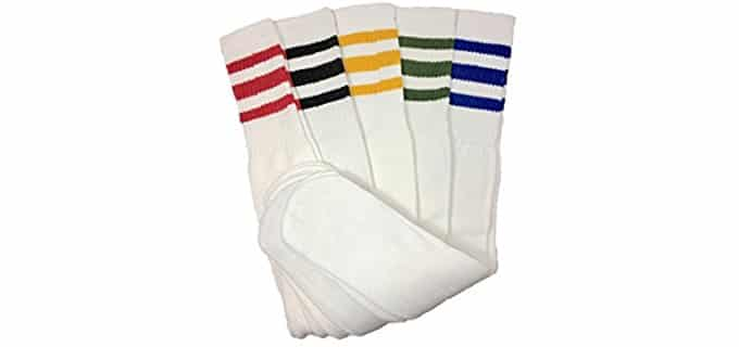 Dream Field Men's Cotton Tube Socks - Pack of 5 Old School Skater Socks