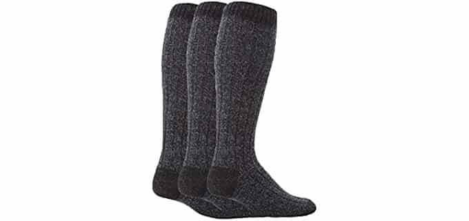 Workforce Unisex Ribbed Thick Boot Socks - Perfect Thick Work Boot Socks