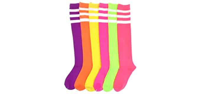Angelina Unisex Referee - Neon CoolredTtube Socks