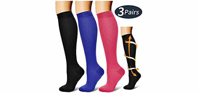Laite Hebe Women's Three Pack - Compression Socks for Nurses