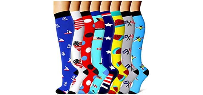 CoolOver Unisex Medical - Colorful Cotton Compression Socks