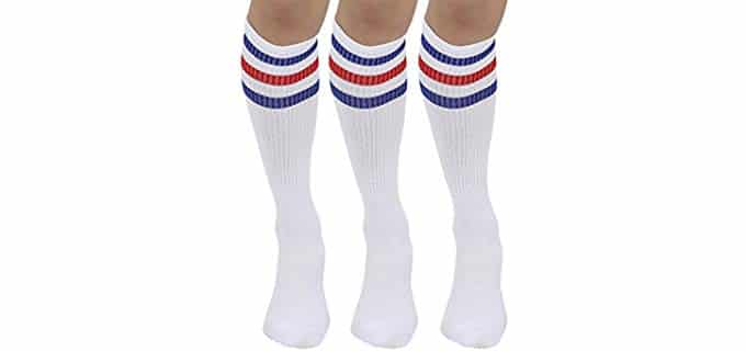 Joulli Unisex Triple Stripes - Knee High Tube Sock