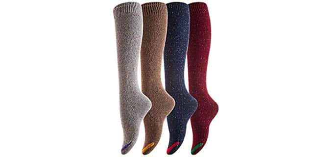 Henny Rue Women's Lovely Annie - Knee High Thick Socks