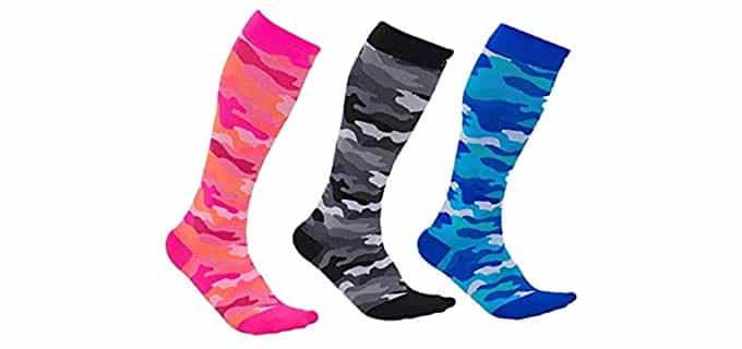 Seven Wolves Unisex Stretch Compression Socks - Knee High Compression Socks for Wide Calves