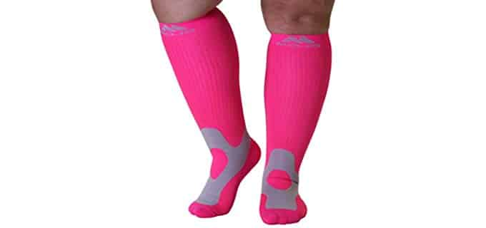 Mojo Unisex 4XL - Compression Knee High Wide Calf Socks