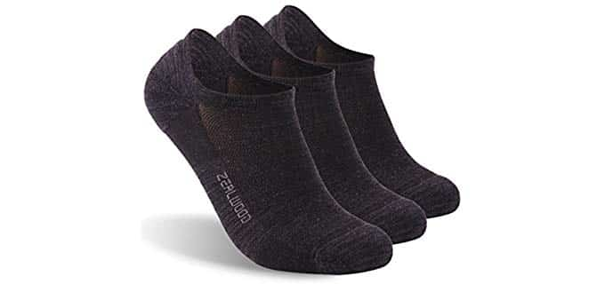 No Show Unisex Athletic - Wool Running Socks