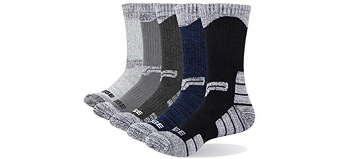 YUEDGE Unisex Hiking - Summer Hiking Socks for Hot Weather