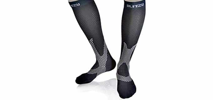 Blitzu Unisex recovery - Compression Socks for Travel and Recovery
