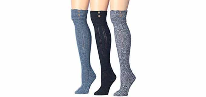 Tipi Toe Women's Winter Warm - Thick Knit Socks