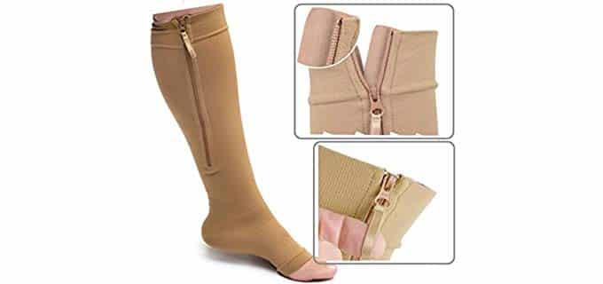Zippered Unisex Medical - Compression Socks for Varicose Veins