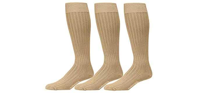BoardroomSocks Men's Pima Cotton - Knee High Dress Socks for Standing All Day