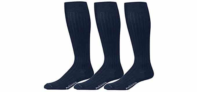 BoardroomSocks Men's Over The Calf Pima Cotton - Colorful Cotton Dress Socks