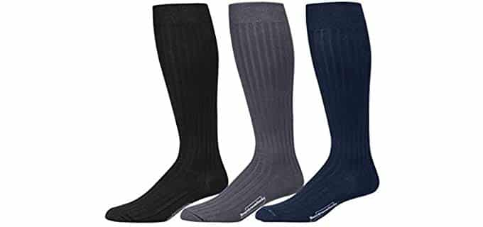 BoardroomSocks Men's Knee High Socks - Knee High Pima Cotton Socks for Men