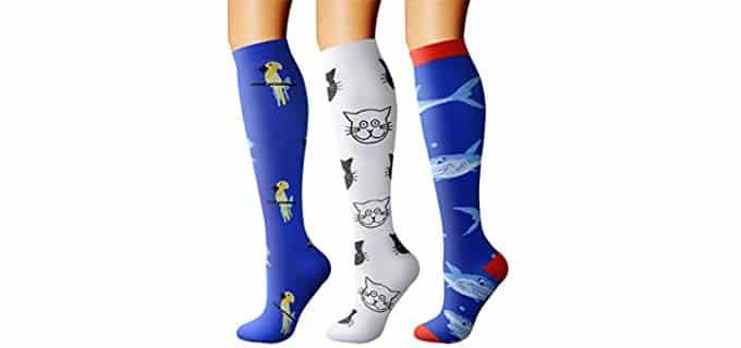 Charmking Unisex Compression - Socks for Edema
