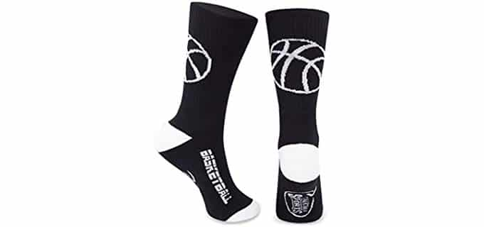 ChalkTalk Unisex Coolmax - Mid-Calf Socks for Basketball