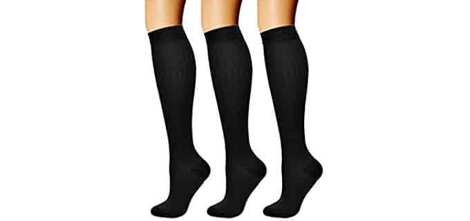 Charmking Unisex Achilles Support - Calf Compression Socks for Shin Splints
