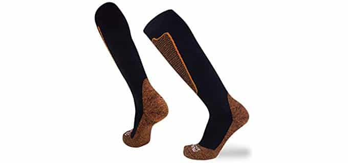Pure Athlete Unisex Copper - Wool Compression Sock