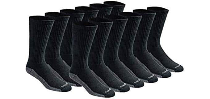 Dickies Men's Dri-Tech - Arch Compression Steel Toe Socks