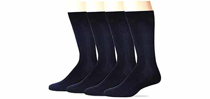 Dockers Unisex Non-Binding - Diabetic Dress Socks