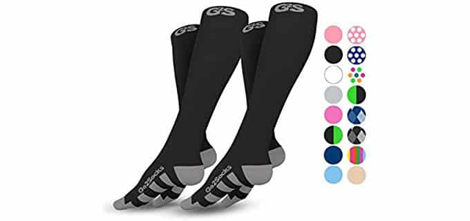 Go2Socks Unisex Athletic - Plantar Fasciitis Compression Socks