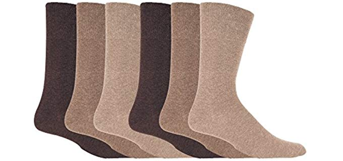 IOMI Men's Thin - Diabetic Dress Socks
