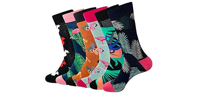 Toes Home Men's Funky - Colorful Dress socks