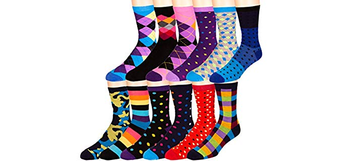 Zeke Men's Assorted - Colorful Dress Socks