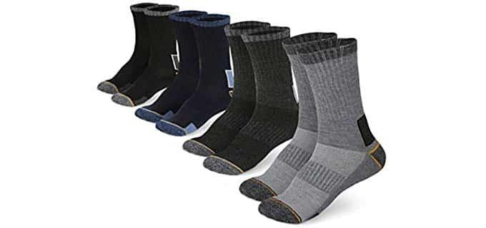 Pembrook Unisex All Season - Crew Steel Toe Boot Socks