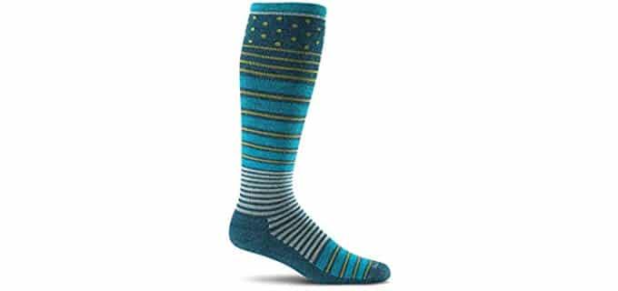 SockWell Women's Twister - Wool Compression Socks