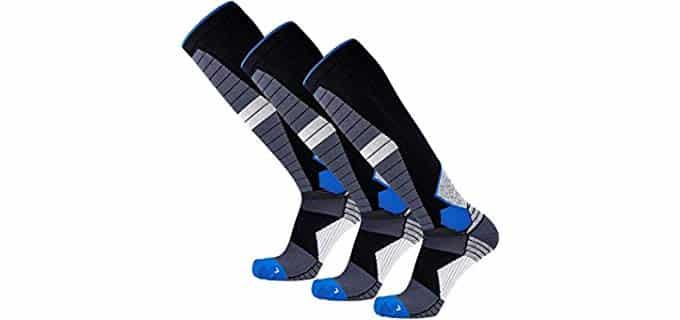Pure Compression Unisex Merino Wool Socks - Graded Compression Merino Wool Running Socks