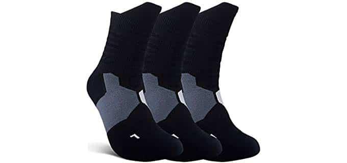 JHM Unisex Sport - Thick Plantar Fasciitis Compression Socks