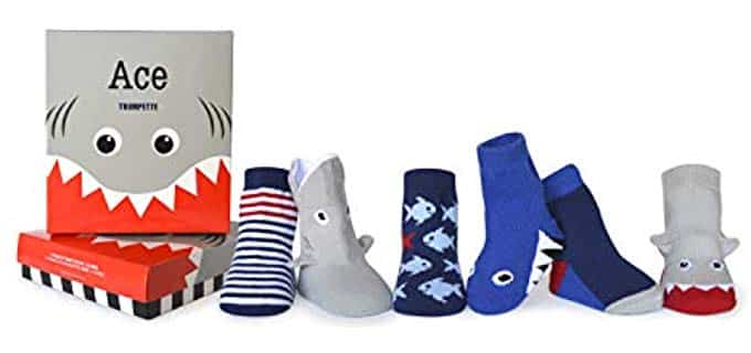 Trumpette Unisex 6 Pair - Anti Slip Socks for Toddlers
