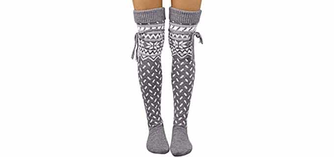 Vermers Women's Long - Long Thigh High Wool Socks