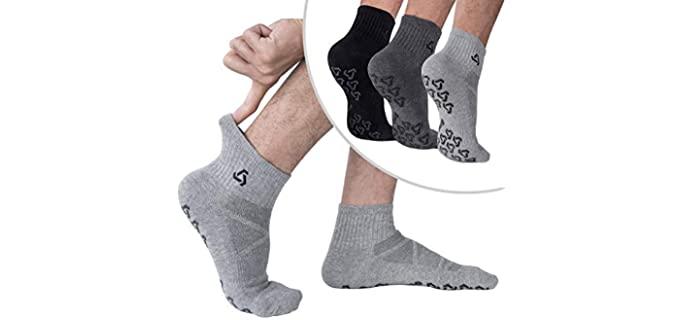 Ozaiic Unisex Cotton - Ventilated Anti Skid Socks