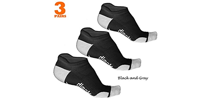 Dimok Unisex Moisture Absorbent - Anti Blister Socks with Heel Tab