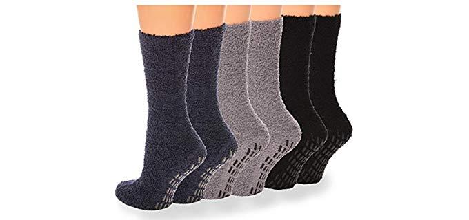 Debra Weitzner Unisex Fuzzy Socks - Non Slip