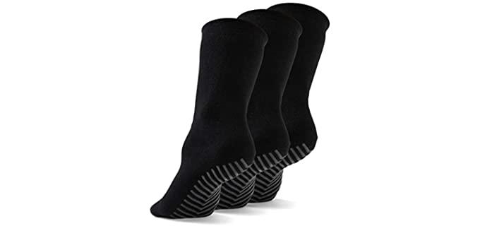 Gripjoy Unisex Luxury - Cotton Blend Non Slip Socks