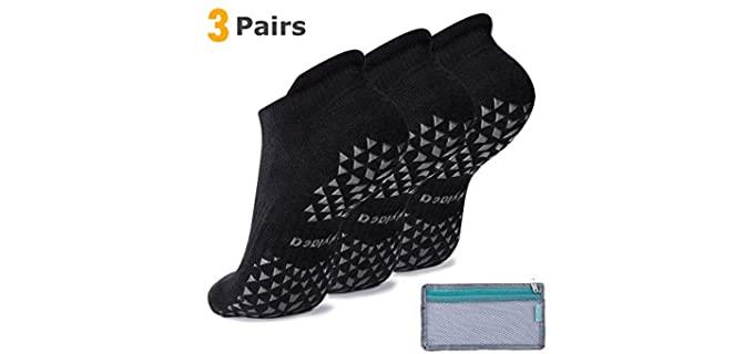 Hylaea Unisex Ankle-cut - Combed Cotton Non Slip Socks