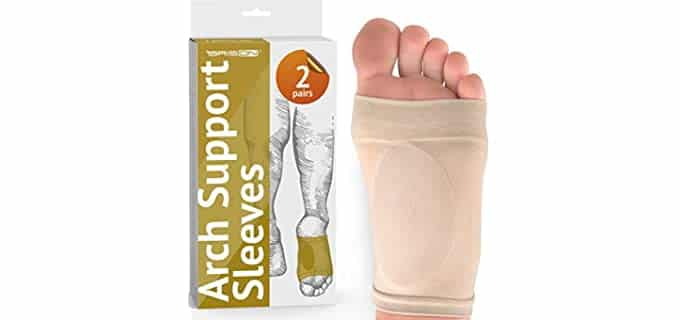 BRISON Unisex Cushioned - Flat Foot Pain Relief Socks