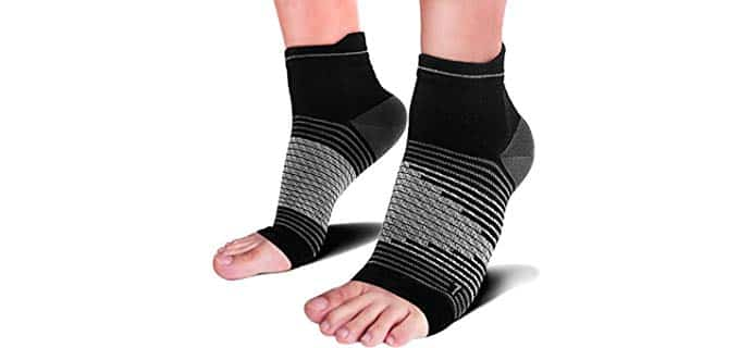 Paplus Unisex Compression - Foot Sleeves with Arch Support