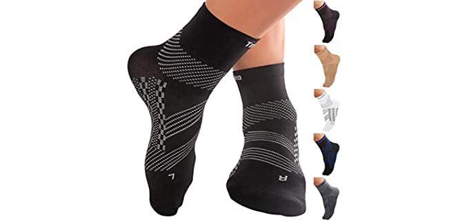 TechWare Pro Unisex Arch Support - Comfortable Socks for Flat Feet