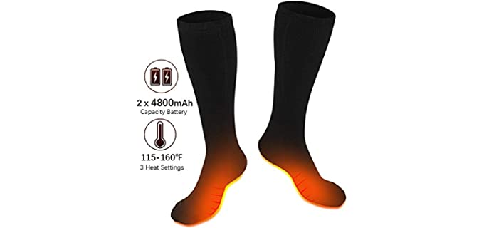 XBUTY Unisex Electric - Best Heated Socks